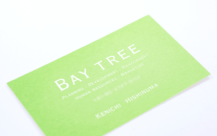 BAY TREE|名刺デザイン|アースリーラフ